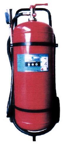 เครื่องดับเพลิงชนิดผงเคมีแห้ง ขนาด 110 ปอนด์ ดับไฟชนิด BC แบบรถเข็น ยี่ห้อ Fireman