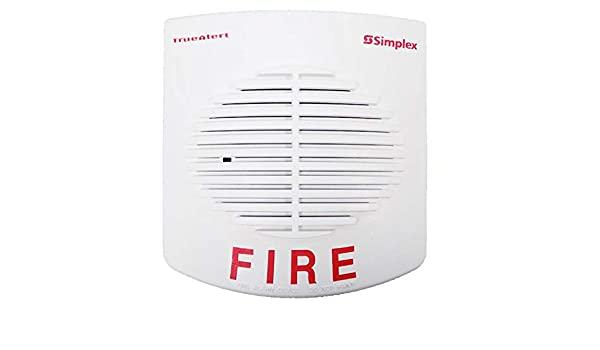 SIMPLEX Non-Addressable Speaker 25-70VRMS WHITE Wall Mount model.4092-9717