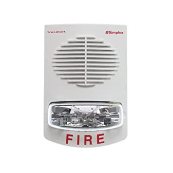 SIMPLEX Non-Addressable Speaker with Strobe selectable 15,30,75,110 CD Wall White model.4906-9153