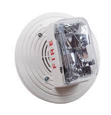 SIMPLEX Non-Addressable Speaker with Strobe selectable 15,30,75,110 CD.Ceiling White model.4906-9154