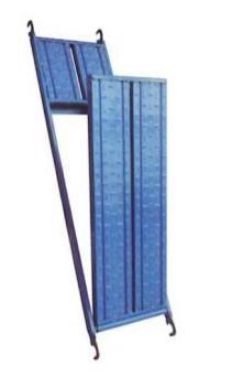 แผ่นทางเดินนั่งร้านเปิด-ปิด พ่นสีน้ำเงิน ขนาด 500×1829 มม.