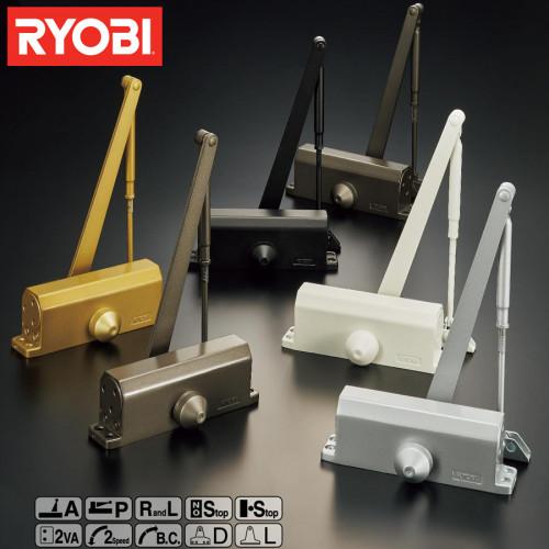 โช๊คอัพประตู รับน้ำหนัก 30 Kg. ความยาว 80 cm. ยี่ห้อ RYOBI รุ่น 8001P แบบแขนขนานไม่ตั้งค้าง
