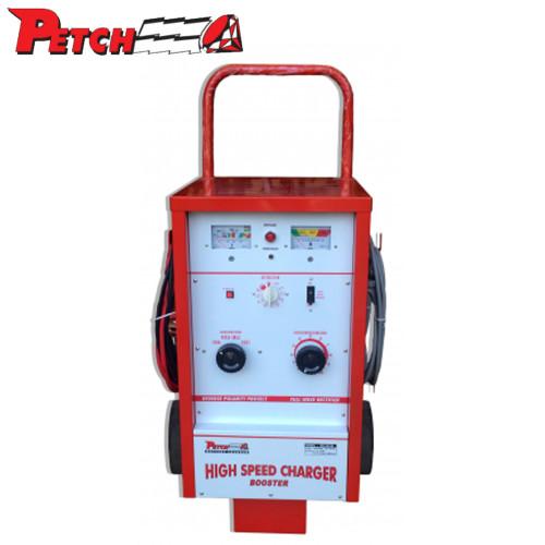PETCH ตู้ชาร์จแบตเตอรี่ กันกลับขั้ว Timer 3 ชม. V+A Meter ไฟออก 6-12-24V Booster 300A รุ่น WH 2460