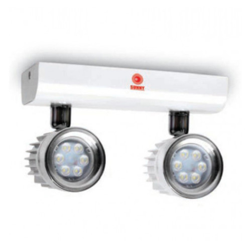SUNNY Remote Lamp NC LED MR16 2x12 w. Battery 24V. Model. RNC 24-212LED