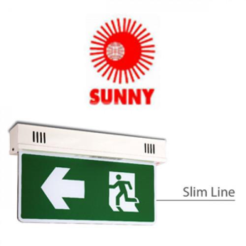ป้ายไฟฉุกเฉินชนิดสลิมไลน์ แบบ 2หน้า รุ่น SLS2-10LED Mi-MH 3.6V  2100 mAh Back up 3 H. ยี่ห้อ Sunny