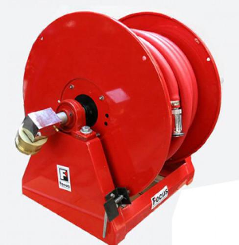 ชุดสายดับเพลิงกงล้อ Hose reelพร้อมฐาน สำหรับติดตั้งบนรถดับเพลิง ยี่ห้อ Focus