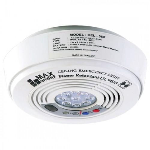 MAXBRIGHT Emergency light LED 1x9 w. Battery 6v-1200 mAh. Back-up time 2 hours. model. CEL069