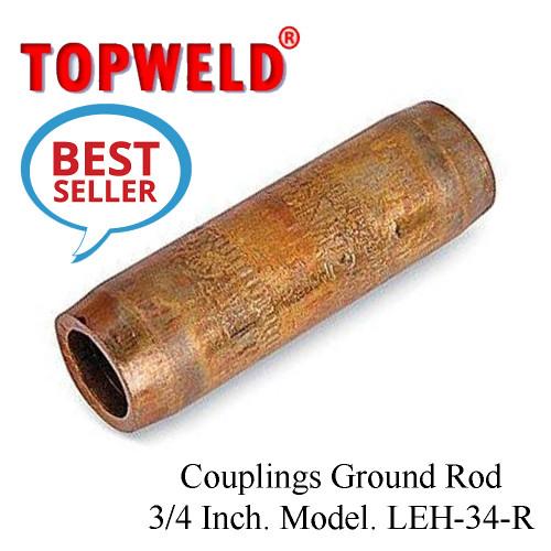 TOPWELD Couplings Ground Rod 3/4 Inch. Model. LEH-34-R