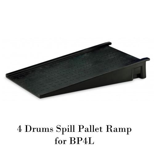 พาเลทรองสารเคมี 4 Drum Spill Pallet Ramp for BP4L Model. STRMDTSSBP4R