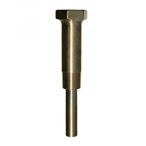 TRERICE Brass Thermowell ,3/4 Inch.NPT Connection,6 Inch. Stem,LAGGING 2-1/2 Inch. Model. 3-4JD2