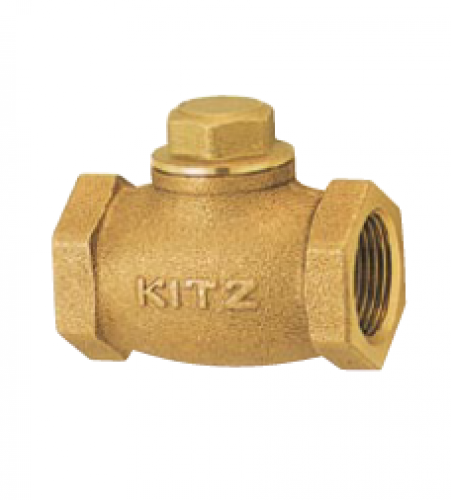 KITZ Bronze Check Valve W.O.G. 125 Psi. Thread End to BS21 Size 1.1/4 Inch. model. F/AKF