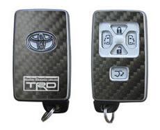 TRD remote carbon sticker