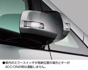 อุปกรณ์พับกระจกข้างอัตโนมัติเมื่อล๊อครถ