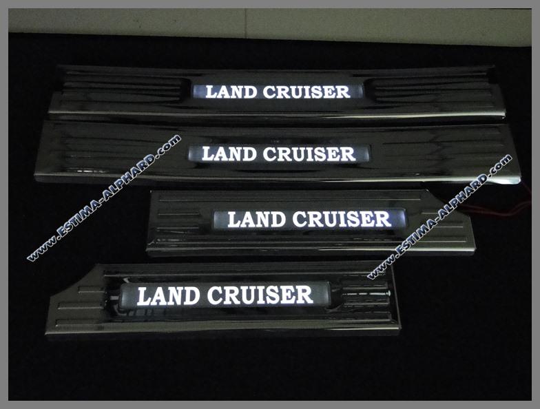 Scuff plates chrome set Land Cruiser 200