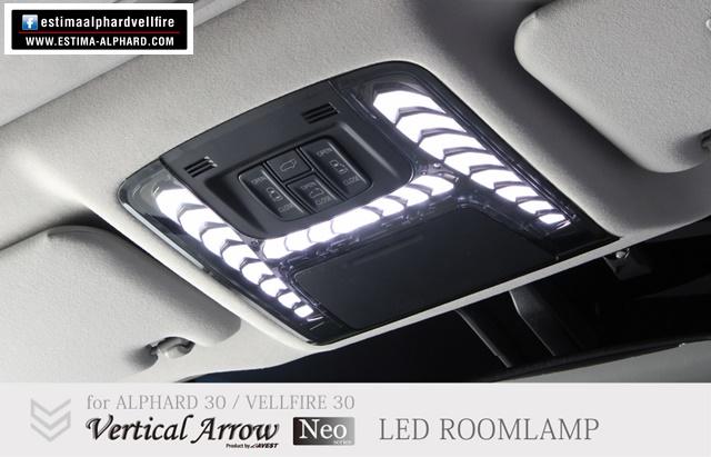 New !  LED room lamp Vertical Aero ไฟเก๋งในห้องโดยสารรุ่นใหม่ล่าสุด ปรับความสว่างและเลือกสีไฟได้