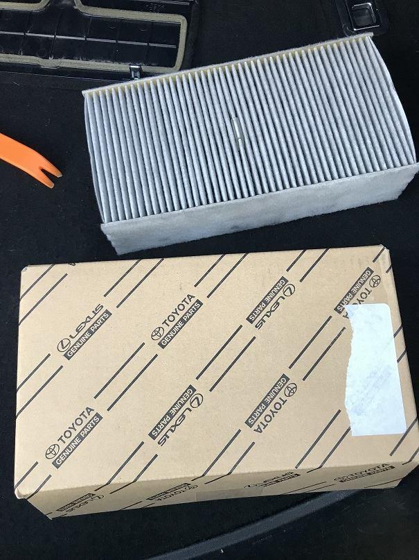 กรองแอร์แท้สำหรับผู้โดยสารตอนหลัง สำหรับ Lexus LS460, LS460L, LS600HL