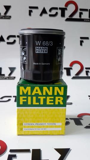 Mann filter กรองเครื่อง Toyota 16V ใส่ Altis Vios Yaris AE100 AE101