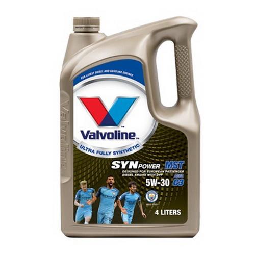น้ำมันเครื่อง VALVOLINE SYNPOWER MST SAE 5W-30 4L+1L