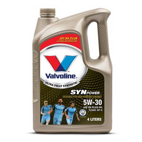 น้ำมันเครื่อง VALVOLINE SYNPOWER SAE 5W-30 4L+1L