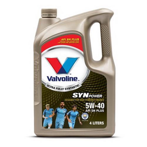 น้ำมันเครื่อง VALVOLINE SYNPOWER SAE 5W-40 4L+1L
