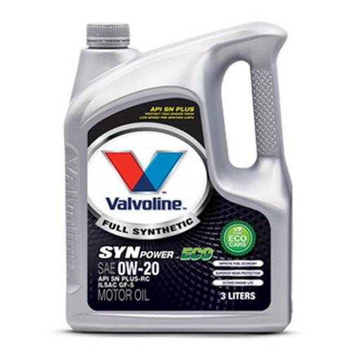 น้ำมันเครื่อง VALVOLINE SYNPOWER ECO SAE 0W-20 3L