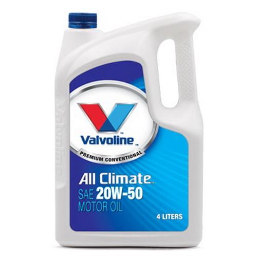 น้ำมันเครื่อง VALVOLINE ALL CLIMATE SAE 20W-50 4L+1L