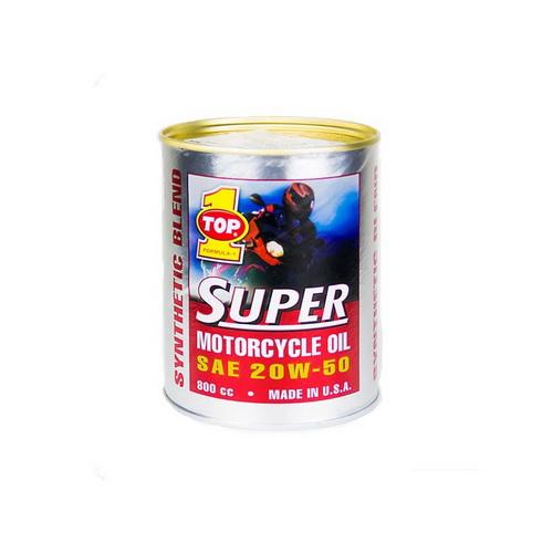 ท๊อป ซูเปอร์มอเตอร์ไซเคิลออยล์ 20W-50  800 ml
