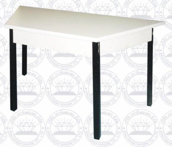 PTB-014-E05 โต๊ะนักเรียนสีเหลี่ยมคางหมู