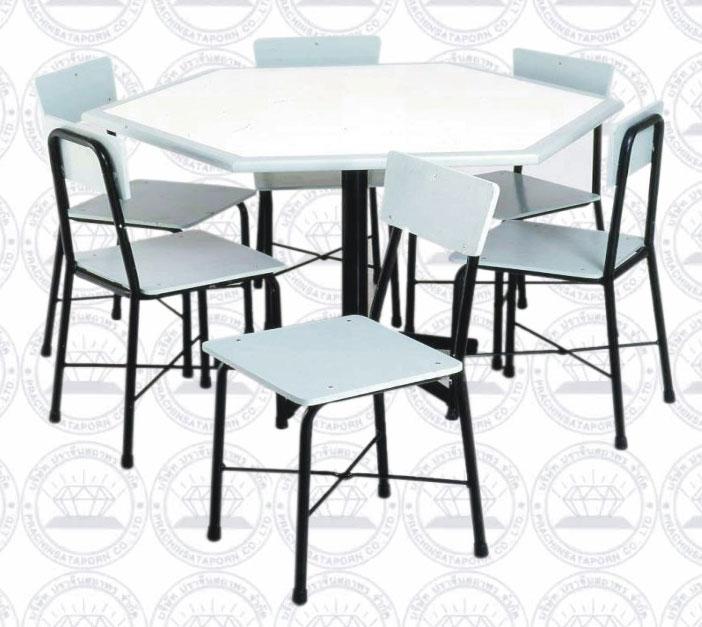โต๊ะหนังสือพร้อมเก้าอี้ขนาด 6 ที่นั่ง