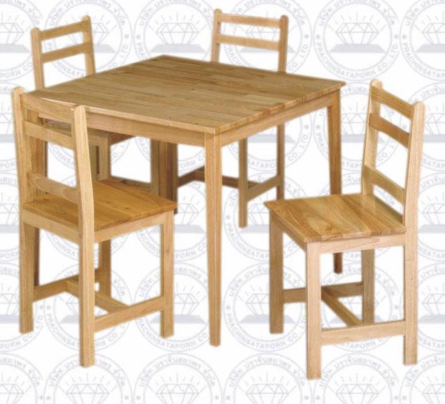 โต๊ะหนังสือพร้อมเก้าอี้ขนาด 4 ที่นั่ง
