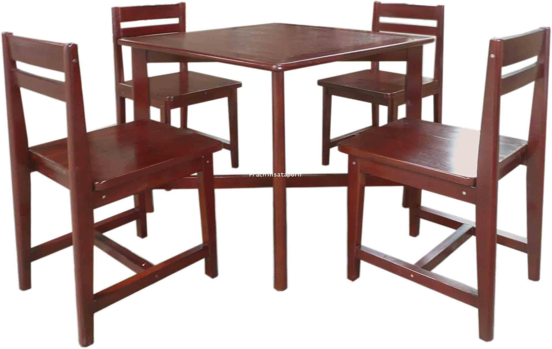 A21 โต๊ะอ่านหนังสือ 4ที่นั่ง พร้อมเก้าอี้