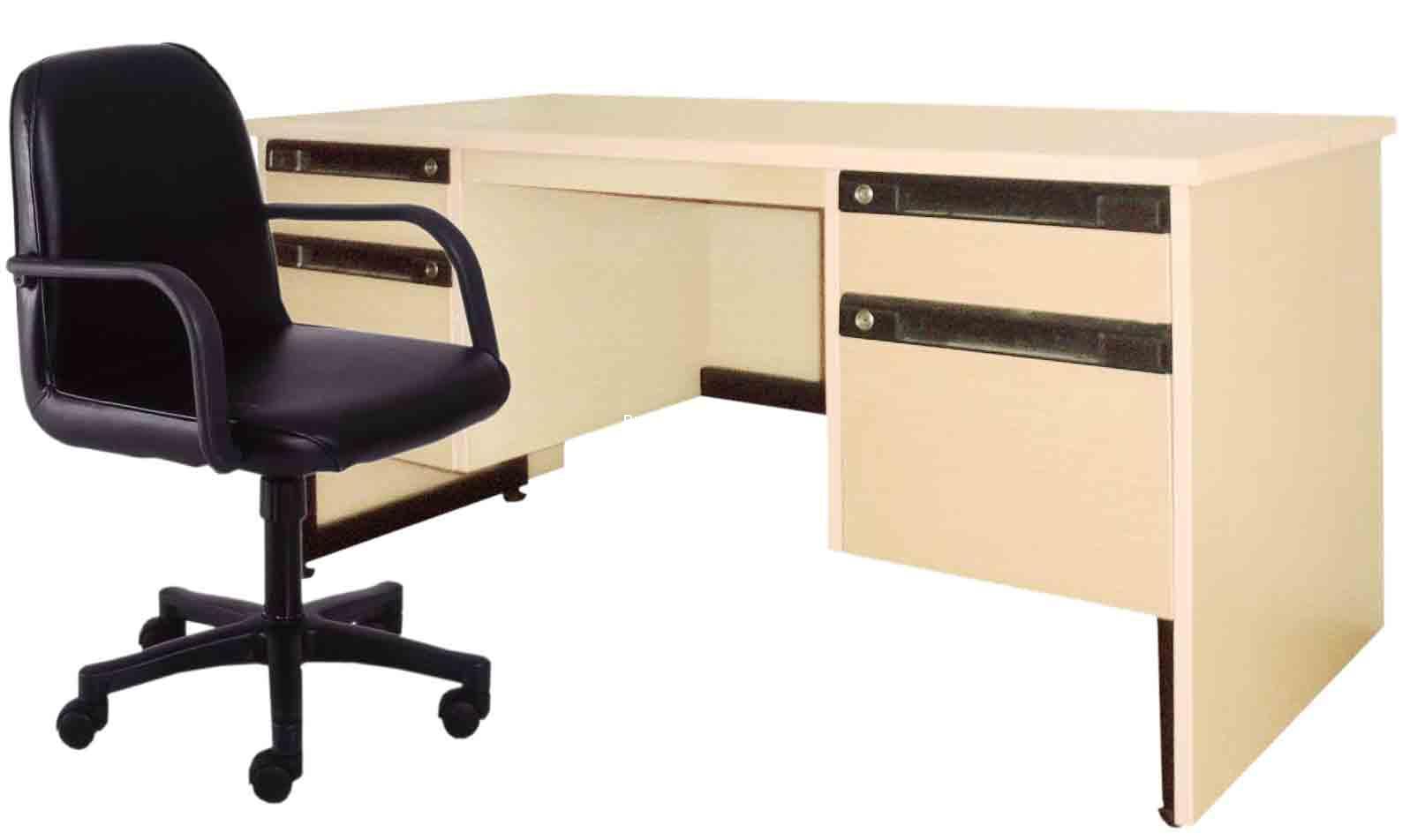 S01 โต๊ะทำงานบรรณารักษ์พร้อมเก้าอี้