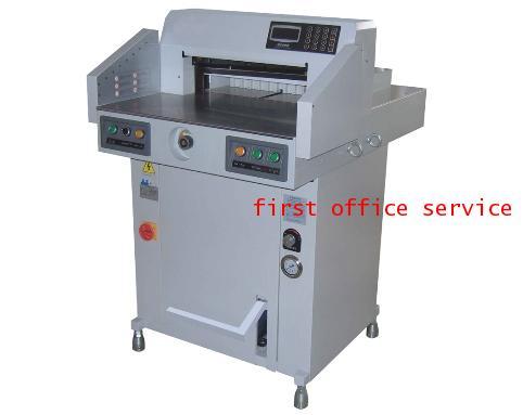 เครื่องตัดกระดาษไฟฟ้าระบบไฮโดรลิค First cut รุ่น 520V Hydraulic