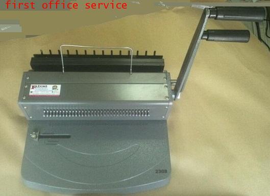 เครื่องเข้าเล่มสันขดลวด รูเจาะวงกลม First bind รุ่น 2308 (3:1)
