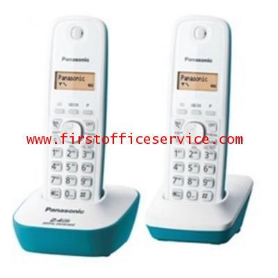 โทรศัพท์ไร้สาย ฟ้าน้ำทะเล (2เครื่อง) Panasonic KX-TG3412