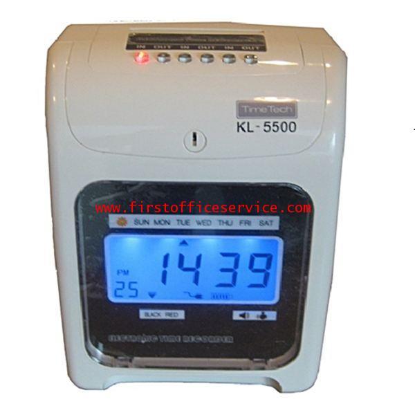 เครื่องตอกบัตรยี่ห้อTIMETECHรุ่น KL-5500