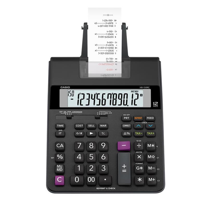 เครื่องคิดเลขแบบพิมพ์ คาสิโอ HR-150RC+AD