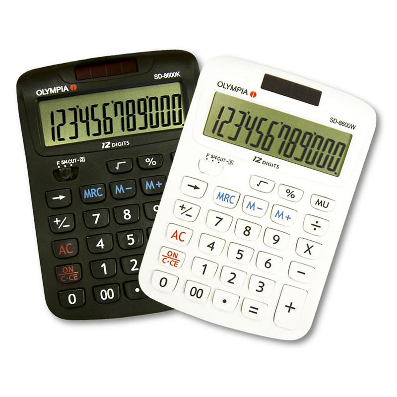 เครื่องคิดเลข โอลิมเปีย SD-8600KW แพ็คคู่