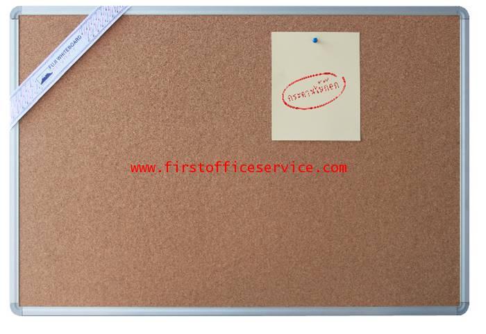บอร์ดติดผนัง กระดานไม้ก๊อก ขอบอลูมิเนียม  รุ่น GB-12