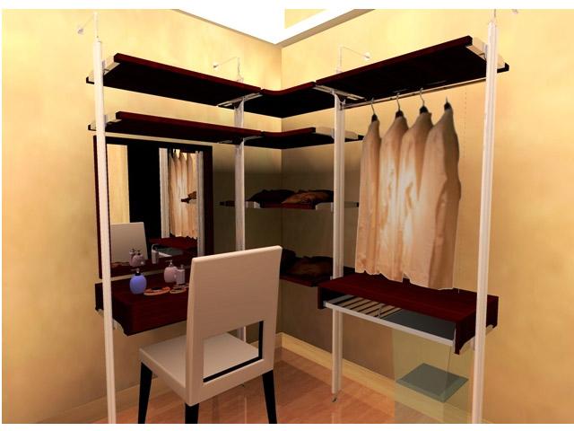 walk- in closet L-shape fittinghome