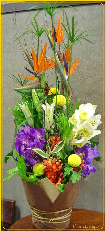 แจกันดอกไม้รวมทรงสูง(vase flower)