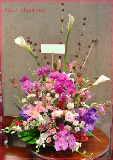 กระเช้าดอกไม้สด(flower basket )