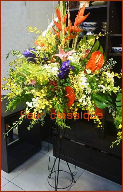 สแตนด์ดอกไม้กล้วยไม้สด(flower orchid with stand)