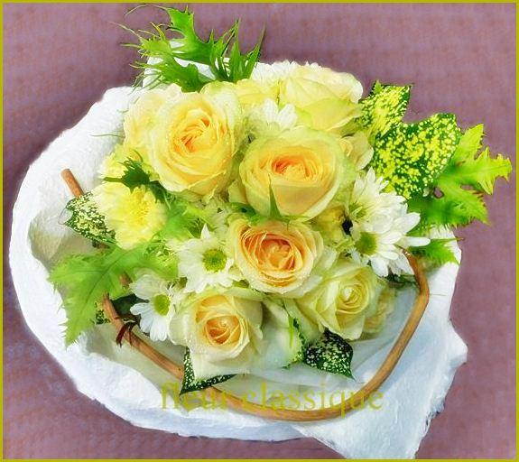 ช่อดอกไม้กุหลาบสีแคนตาลูป(rose bouquet)