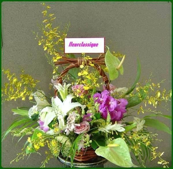กระเช้าดอกไม้พริ้วไหว(flower basket)