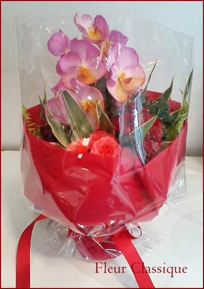 ช่อแวนด้าชมพู(bouquet)