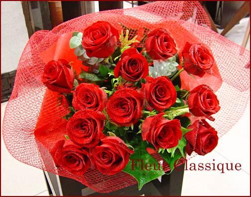 ช่อกุหลาบแดง (roses bouquet)