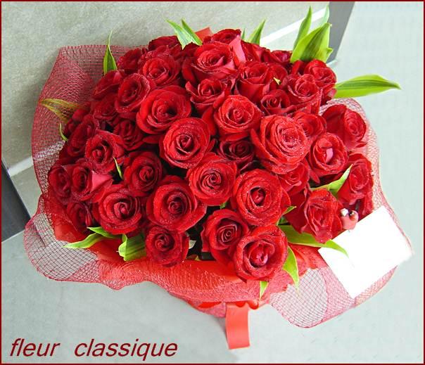 กุหลาบแดง 50 ดอก (rose bouquet)