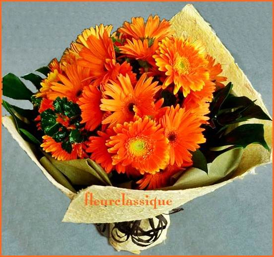 ช่อดอกเยอบีร่า (bouquet)