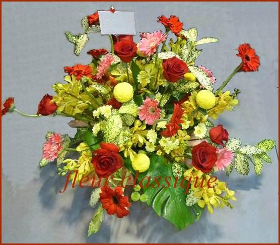 ดอกไม้ให้กำลังใจ flower basket